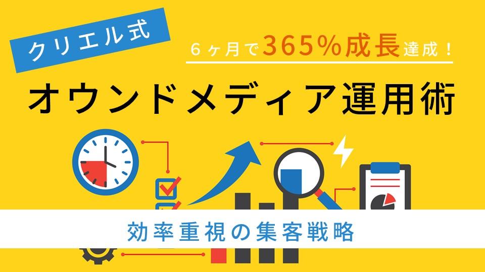 半年で365%成長!クリエル式オウンドメディア運用術